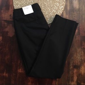 LOFT Black Cropped Julie Riviera Pant